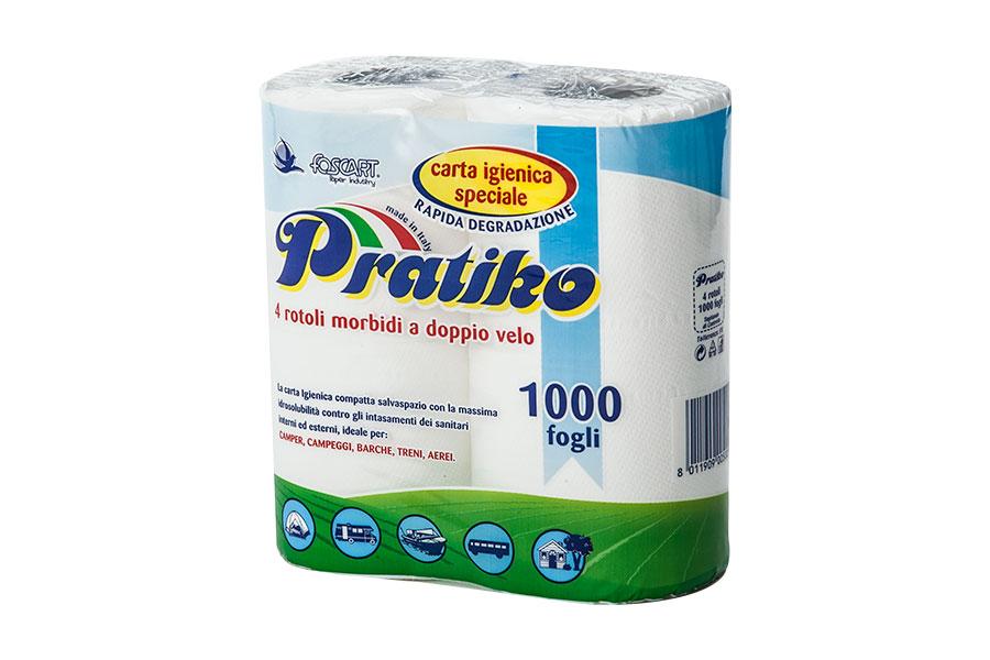 4 rotoli carta igieni Pratiko