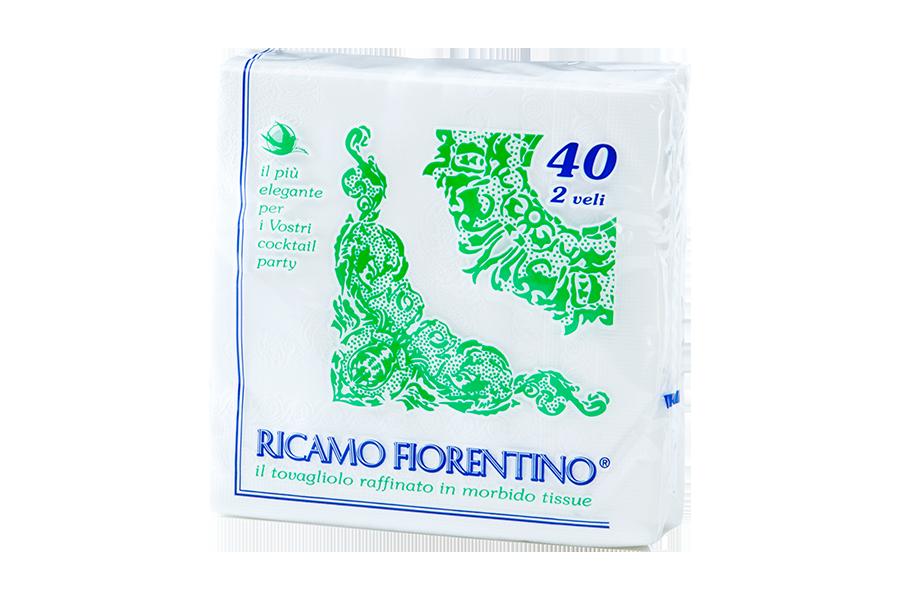Tovagliolo Ricamo Fiorentino 34x34